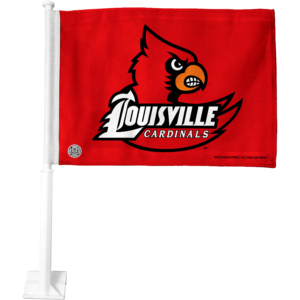 Nav Item for Louisville Cardinals Car Flag Image #1