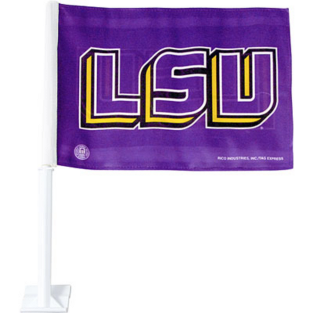 Nav Item for Louisiana State Tigers Car Flag Image #1