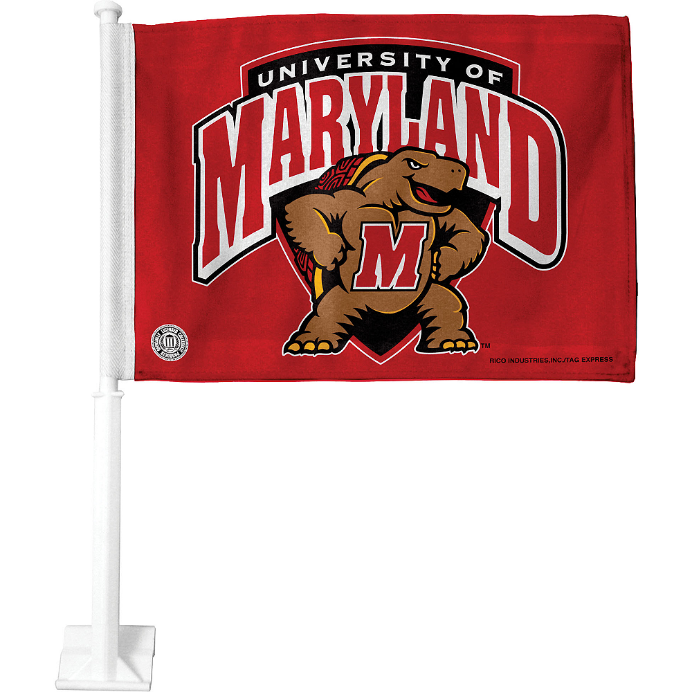 Maryland Terrapins Car Flag Image #1