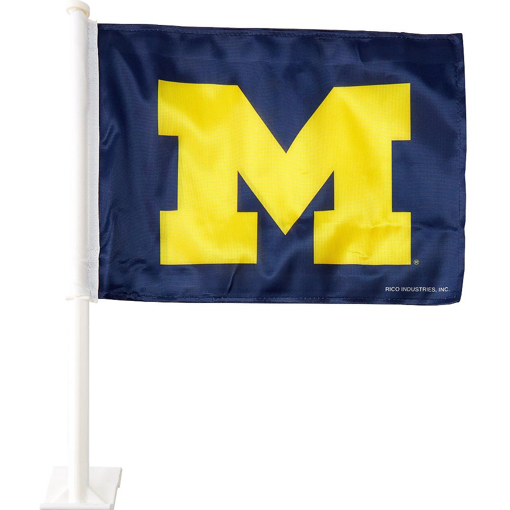 Michigan Wolverines Car Flag Image #1