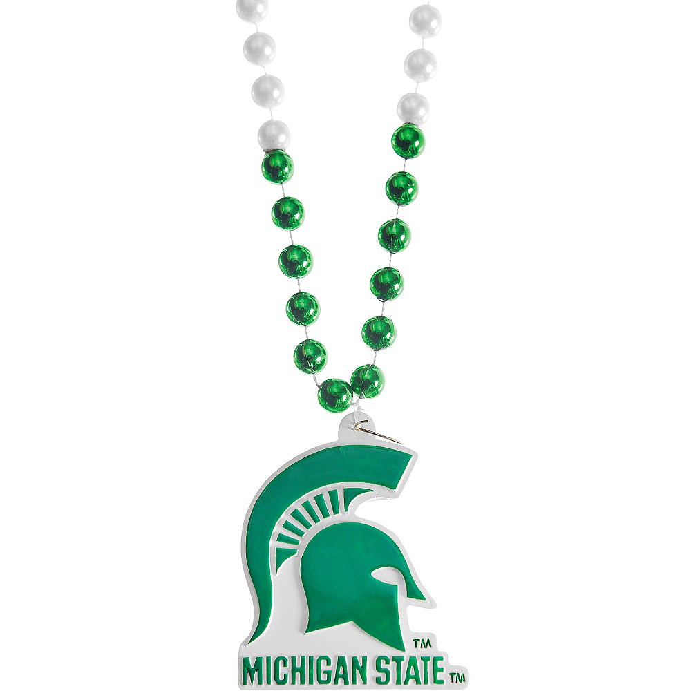 Michigan State Spartans Pendant Bead Necklace Image #1