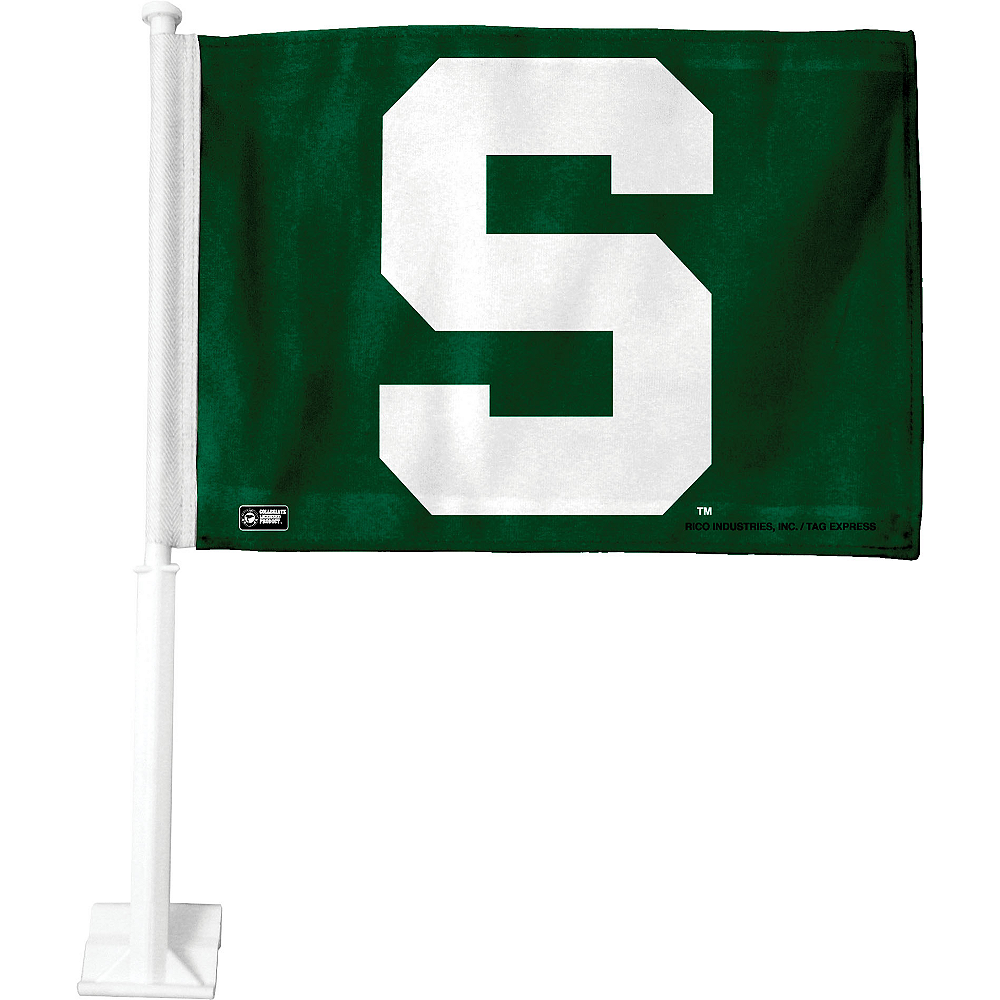 Michigan State Spartans Car Flag Image #1
