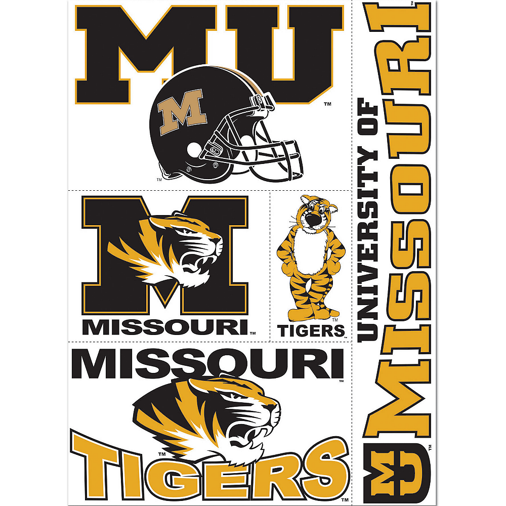 outlet store ff1be 07fd2 Missouri Tigers Decals 5ct Image  1