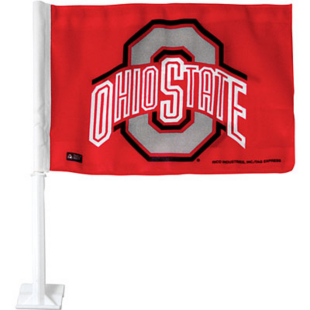 Ohio State Buckeyes Car Flag Image #1