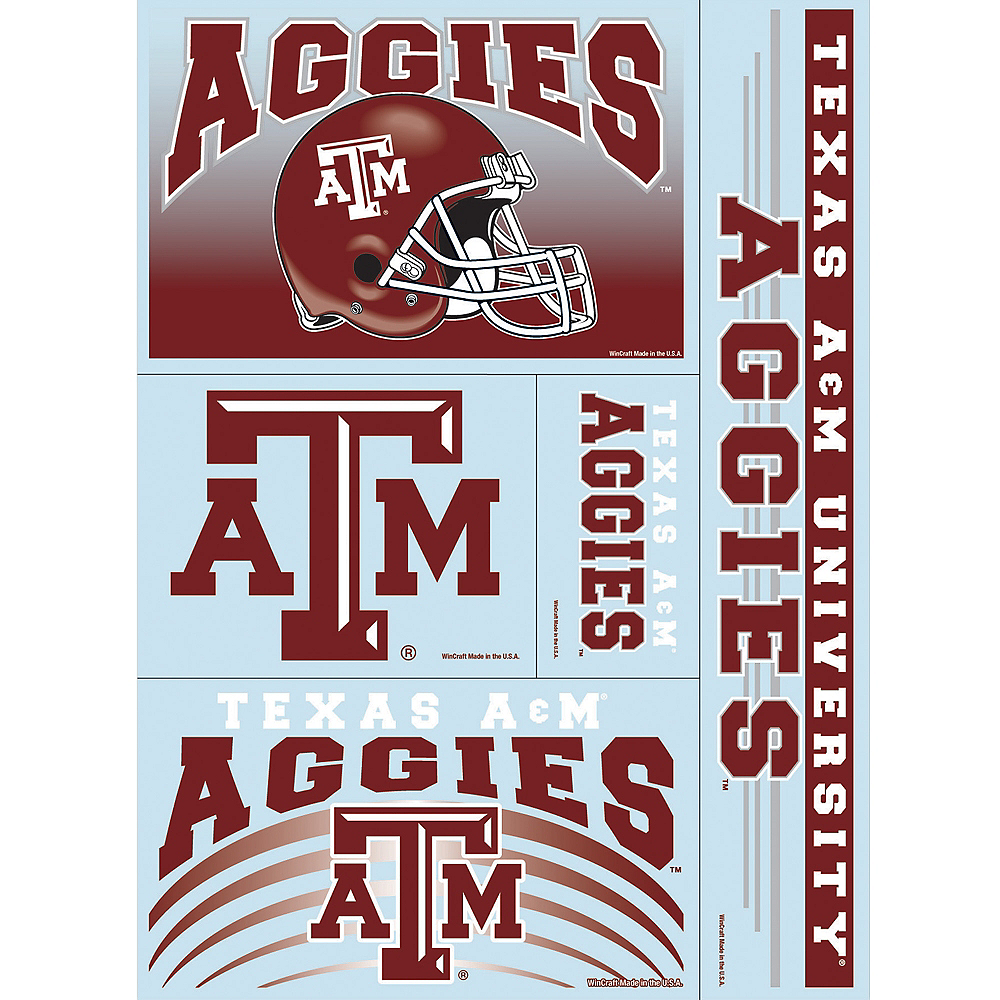 Nav Item for Texas A&M Aggies Decals 5ct Image #1