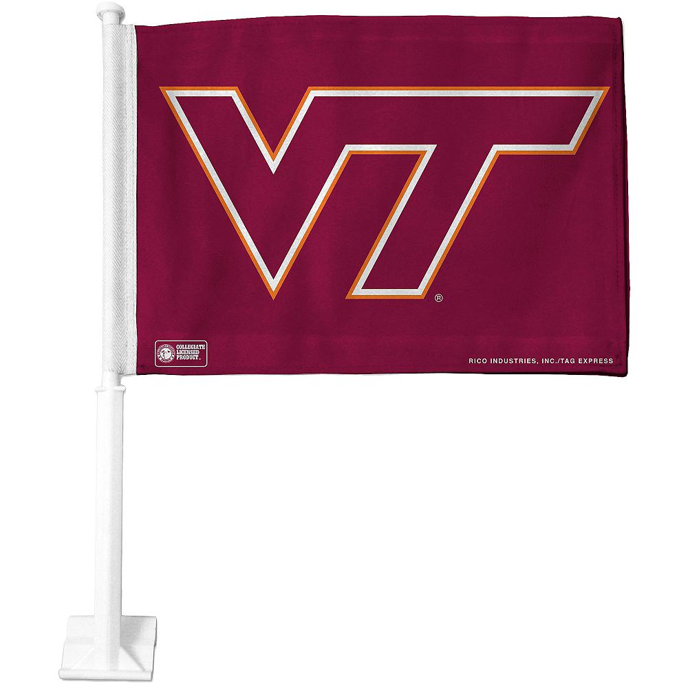 Virginia Tech Hokies Car Flag Image #1