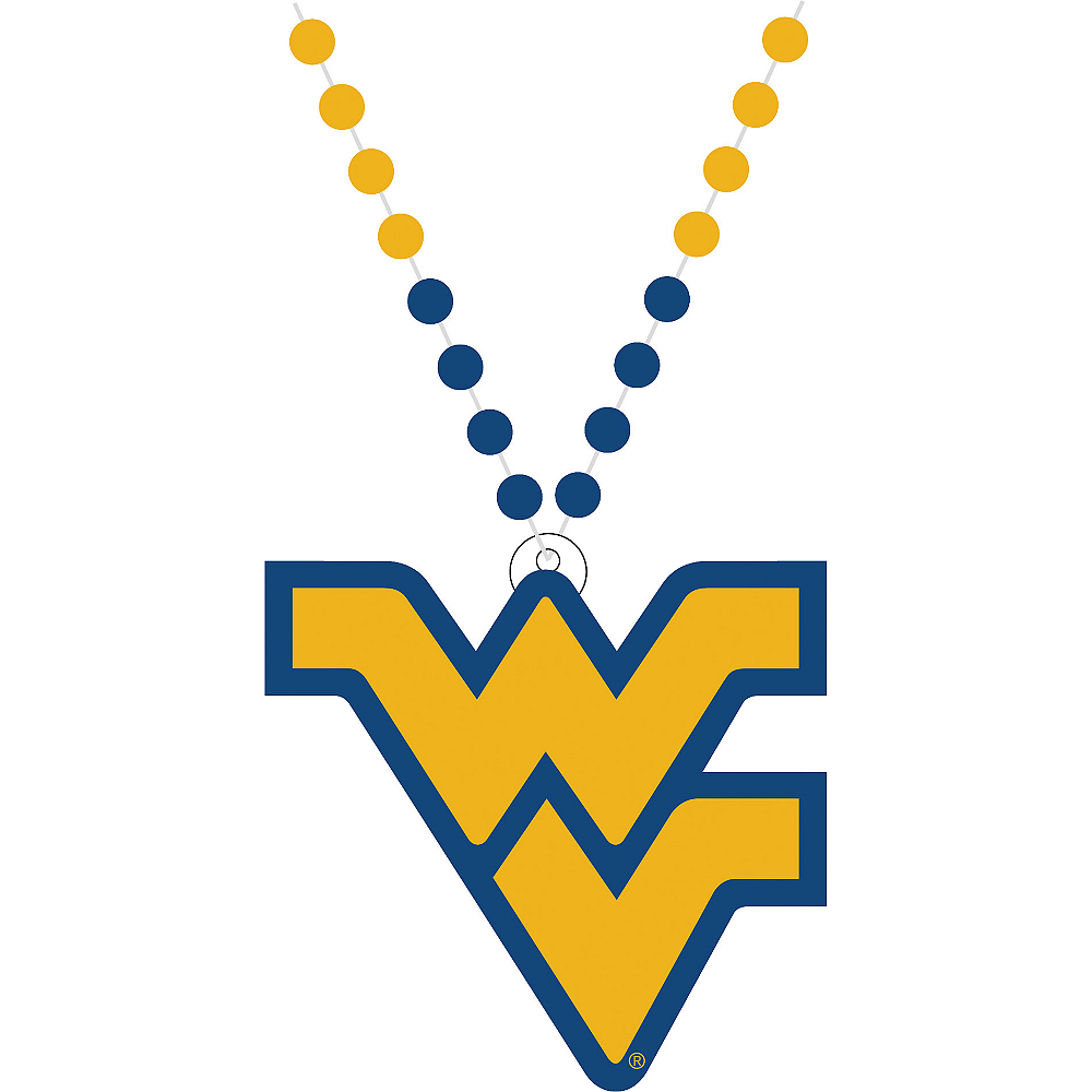 West Virginia Mountaineers Pendant Bead Necklace Image #1