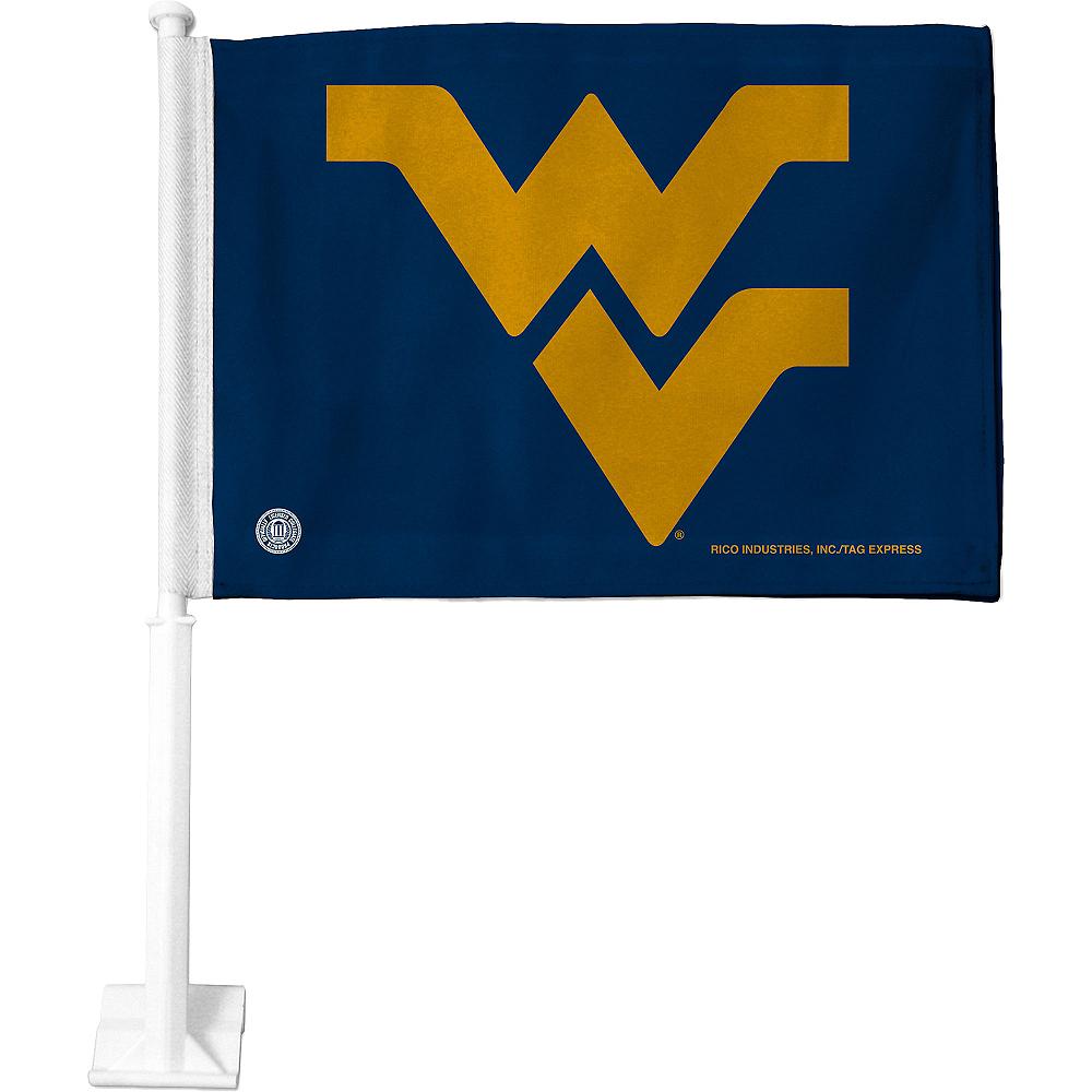 West Virginia Mountaineers Car Flag Image #1