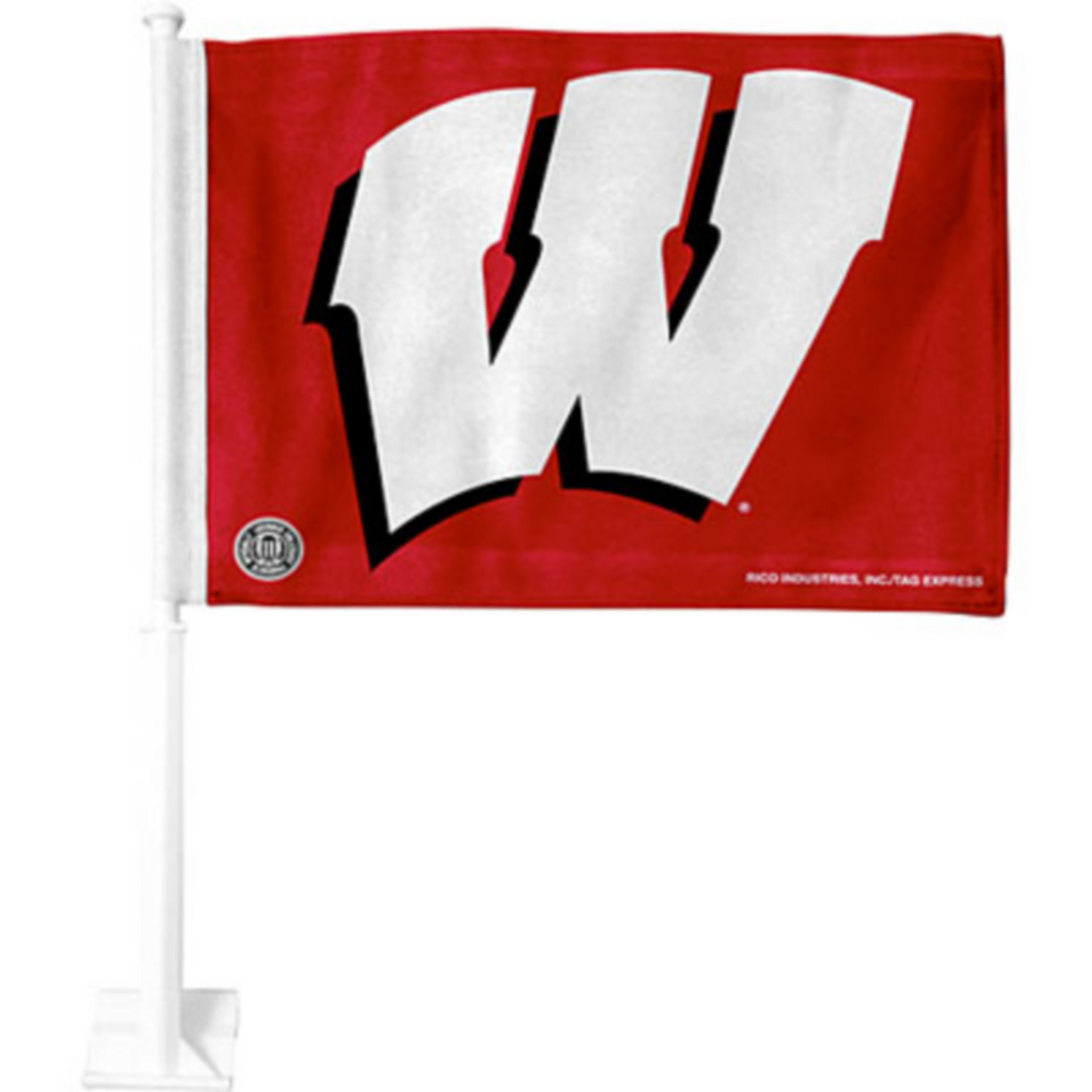 Wisconsin Badgers Aggies Car Flag Image #1