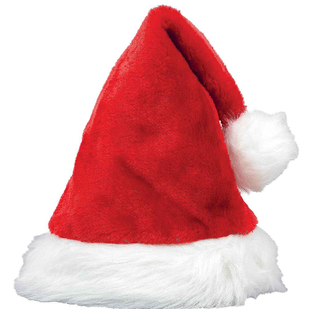 Red Plush Santa Hat Image #1