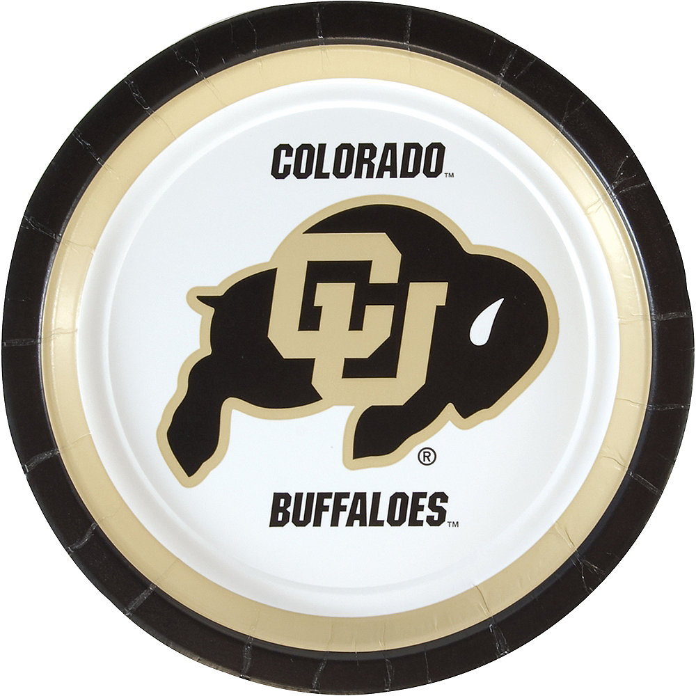 Colorado Buffaloes Lunch Plates 10ct Image #1