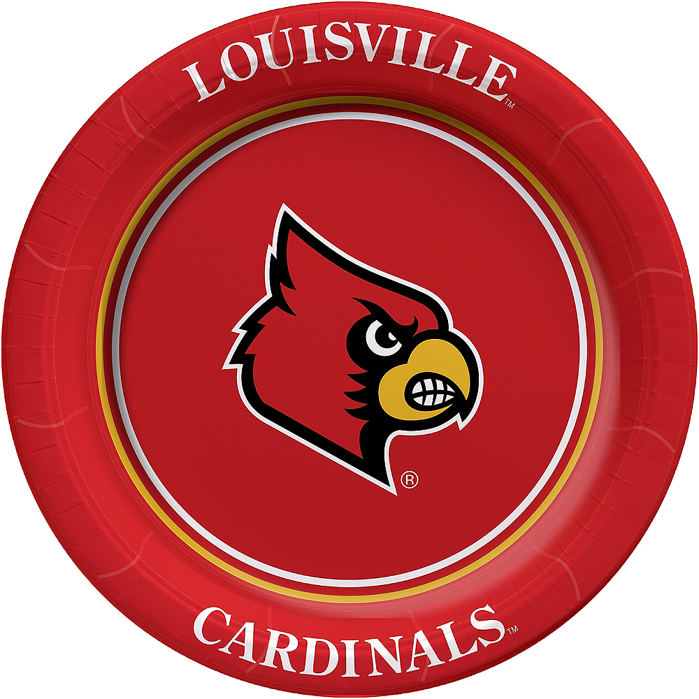 Louisville Cardinals Lunch Plates 8ct Image #1