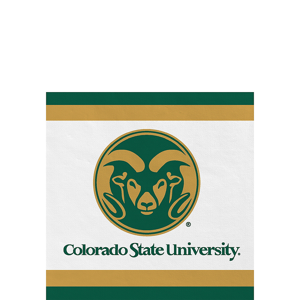 Nav Item for Colorado State Rams Beverage Napkins 24ct Image #1
