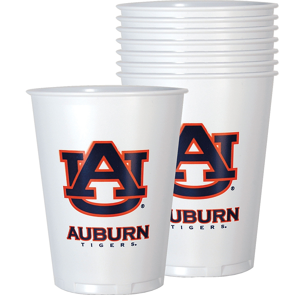 Auburn Tigers Plastic Cups 8ct Image #1