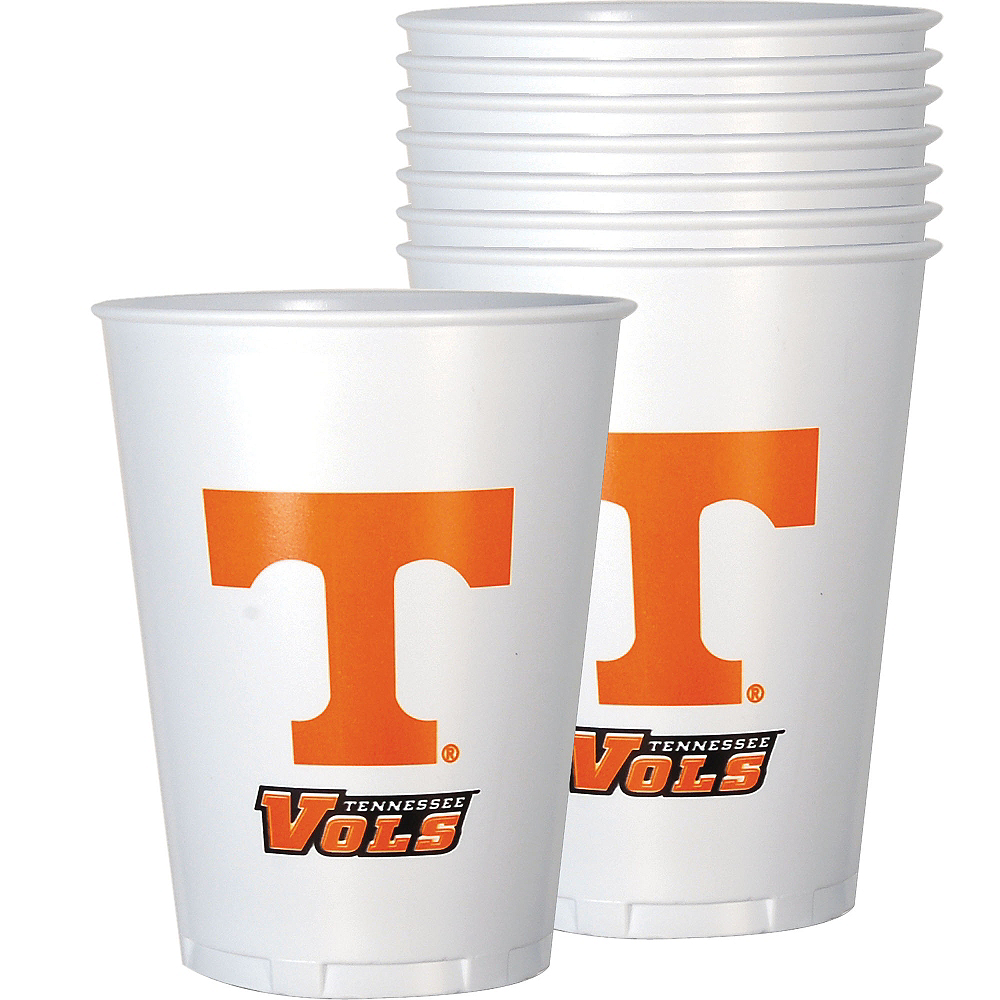 Tennessee Volunteers Plastic Cups 8ct Image #1