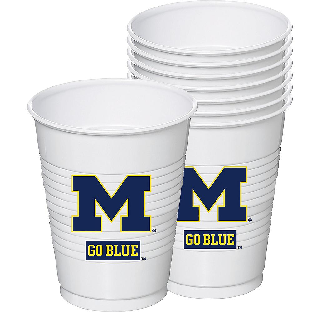 Michigan Wolverines Plastic Cups 8ct Image #1