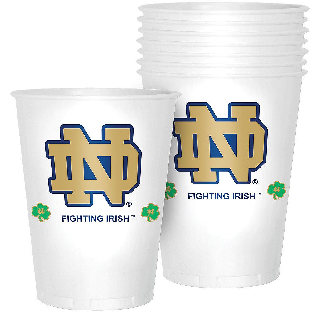 Notre Dame Fighting Irish Plastic Cups 8ct Image #1