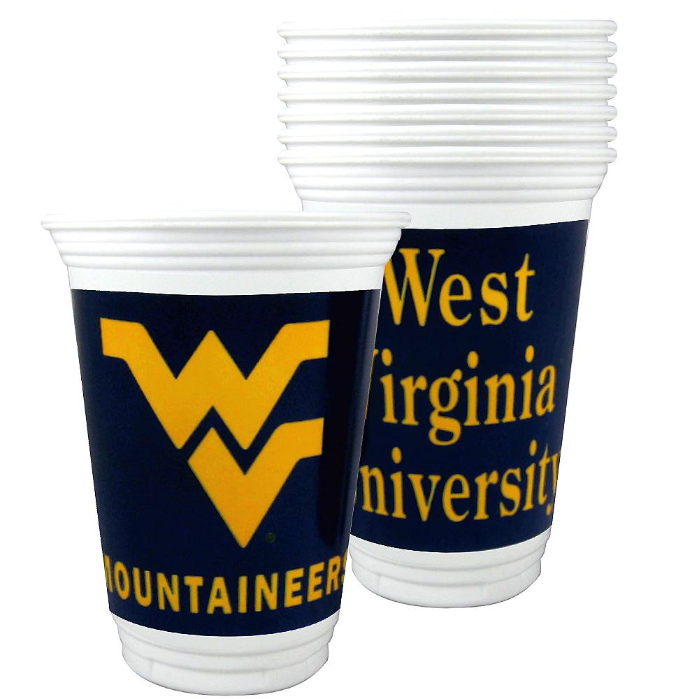 West Virginia Mountaineers Plastic Cups 8ct Image #1
