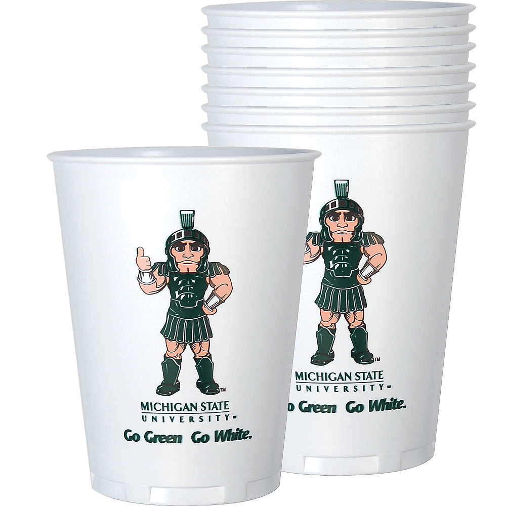 Michigan State Spartans Plastic Cups 8ct Image #1