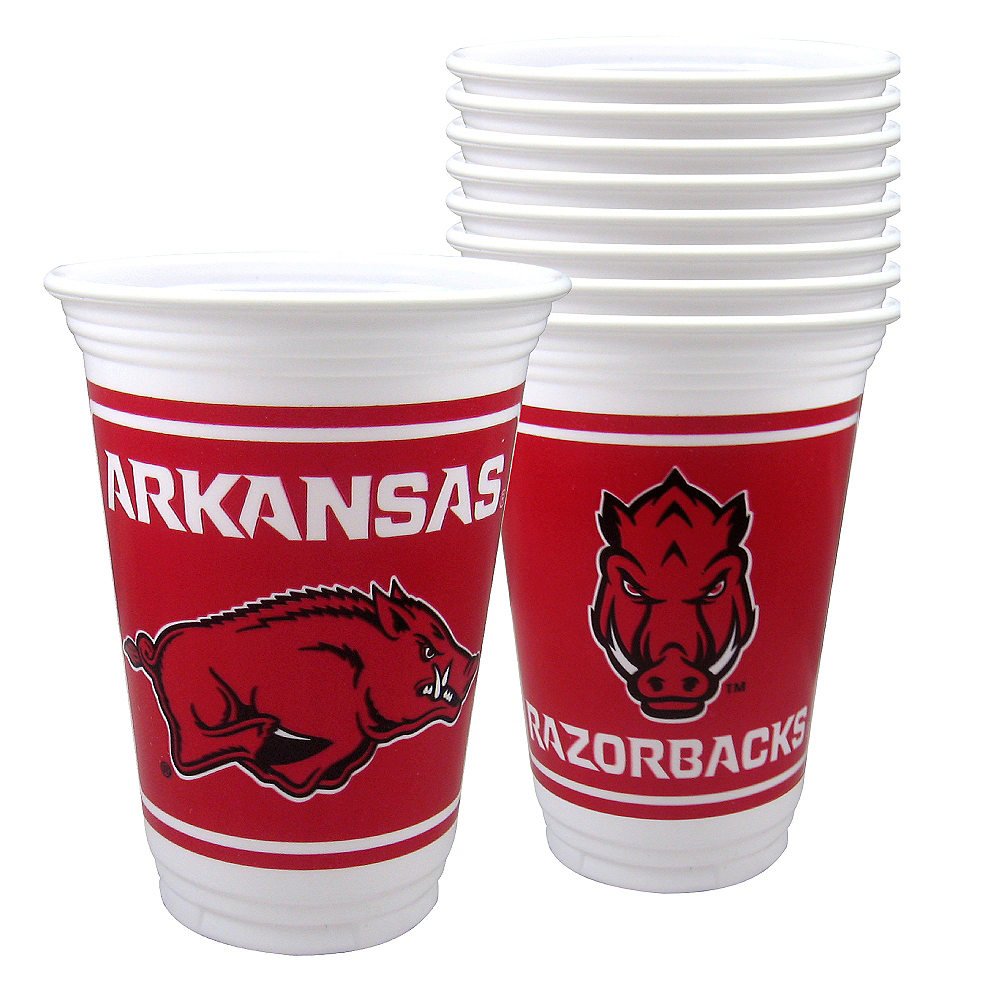 Nav Item for Arkansas Razorbacks Plastic Cups 8ct Image #1