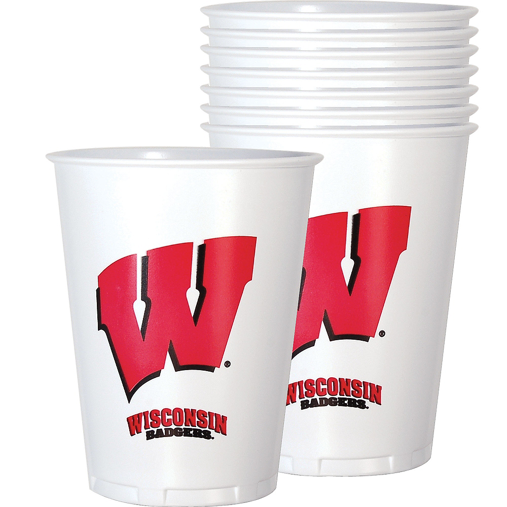 Wisconsin Badgers Plastic Cups 8ct Image #1