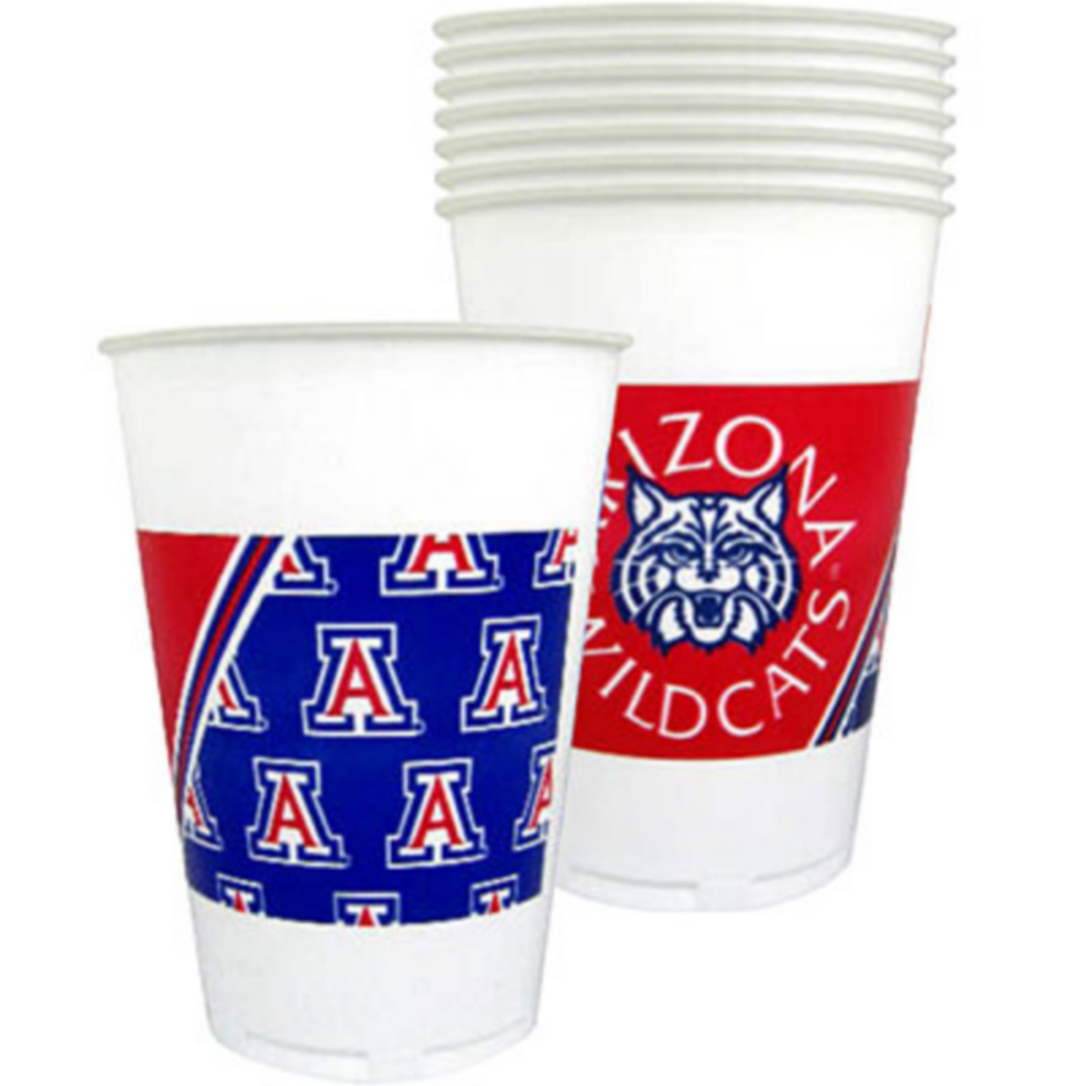 Arizona Wildcats Plastic Cups 8ct Image #1