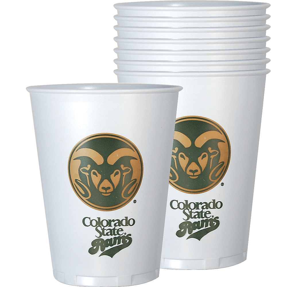Nav Item for Colorado State Rams Plastic Cups 8ct Image #1