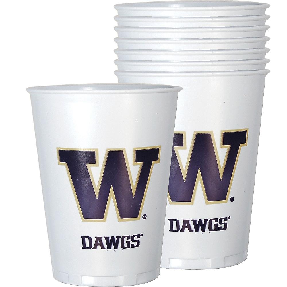 Washington Huskies Plastic Cups 8ct Image #1