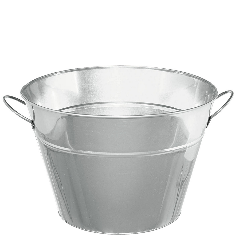 Silver Metal Party Tub Image #1