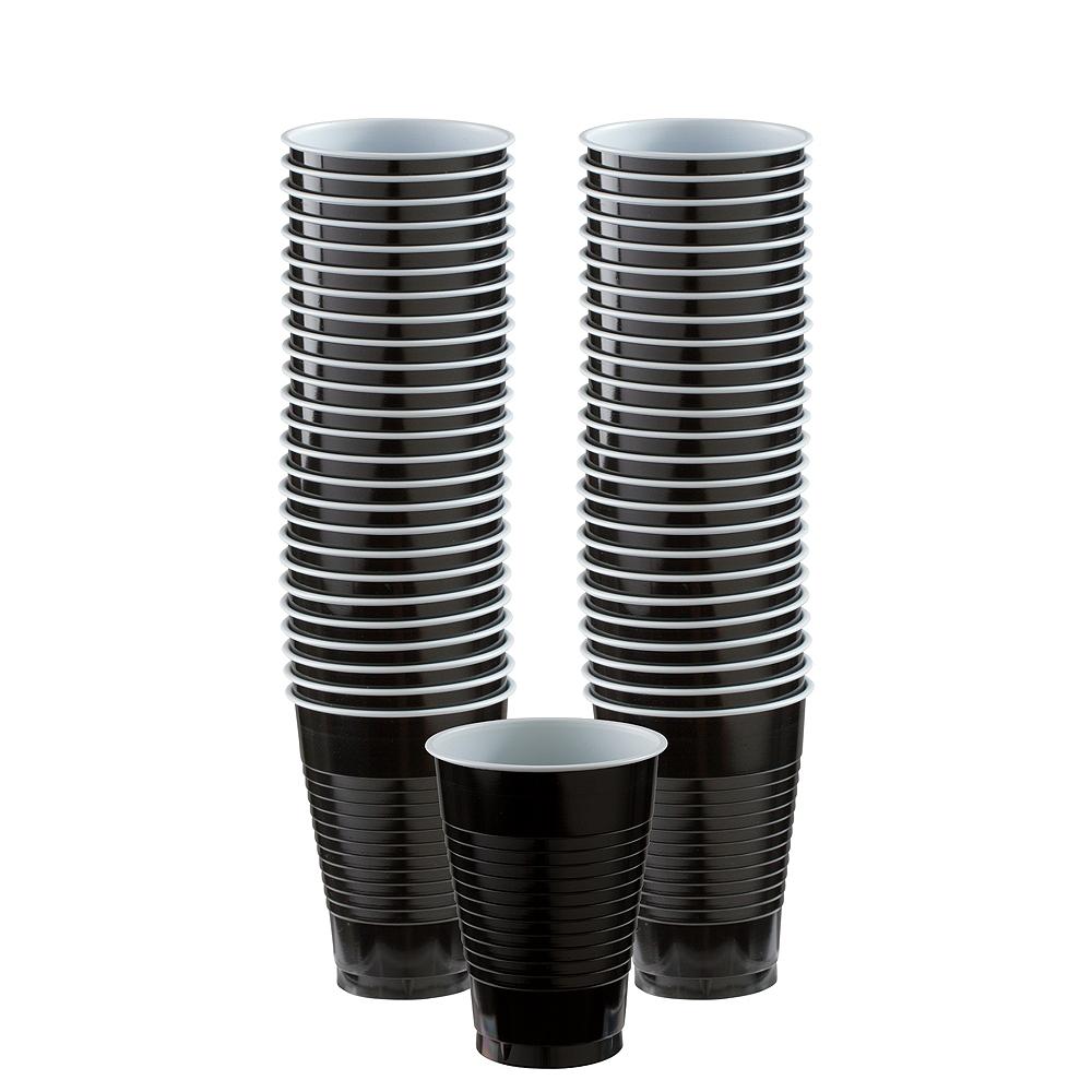 Black Plastic Cups, 12oz, 50ct Image #1