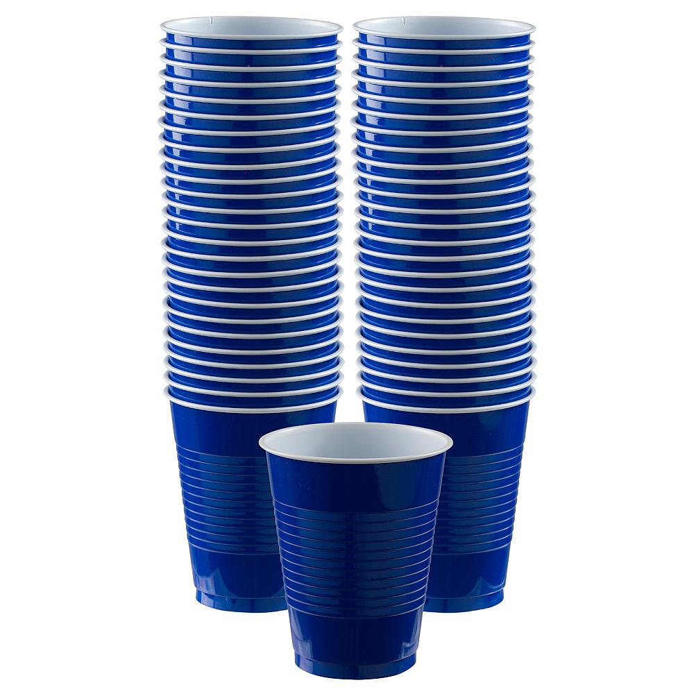 Royal Blue Plastic Cups, 16oz, 50ct Image #1