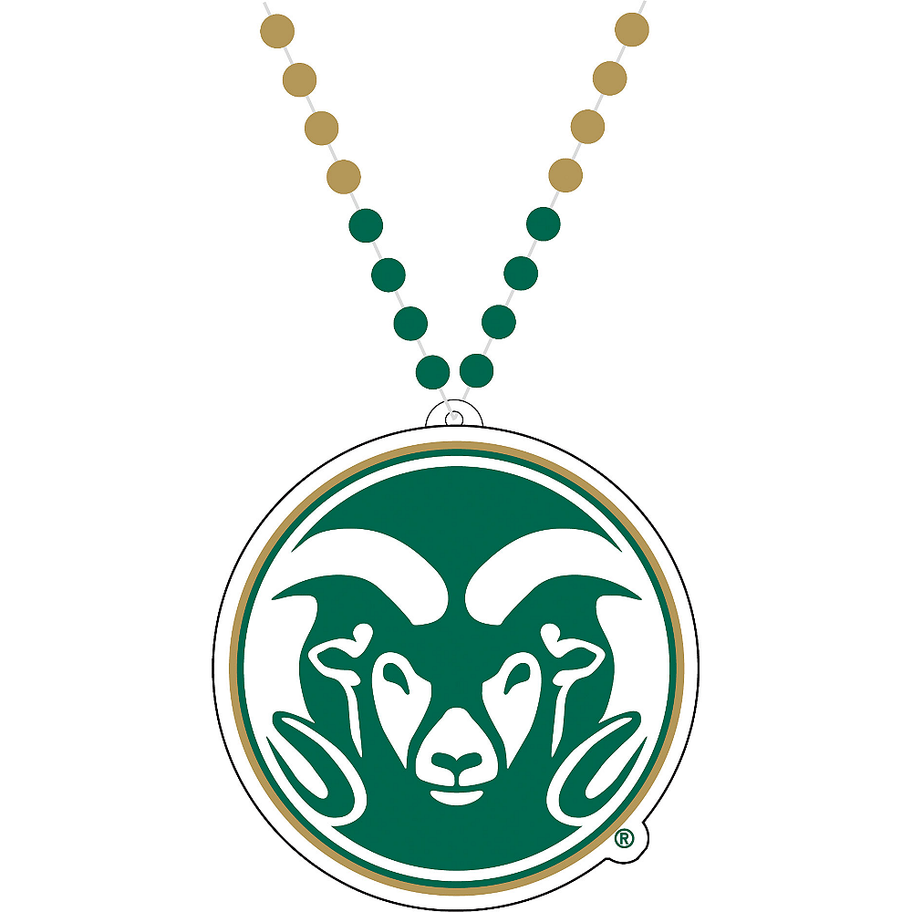 Colorado State Rams Pendant Bead Necklace Image #1