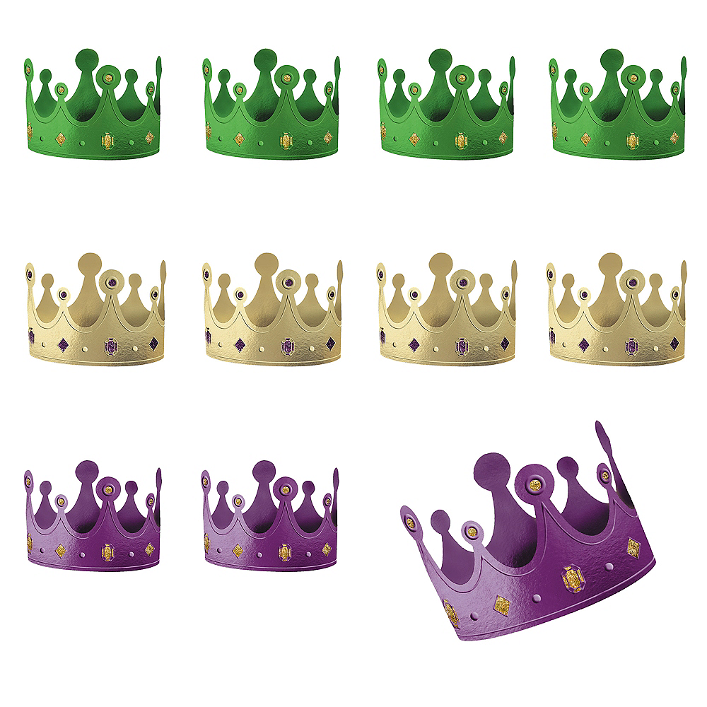 Mardi Gras Crowns 12ct Image #1