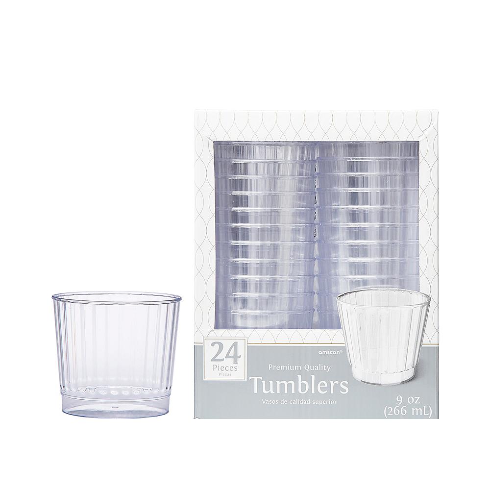 CLEAR Premium Plastic Cups 24ct Image #1