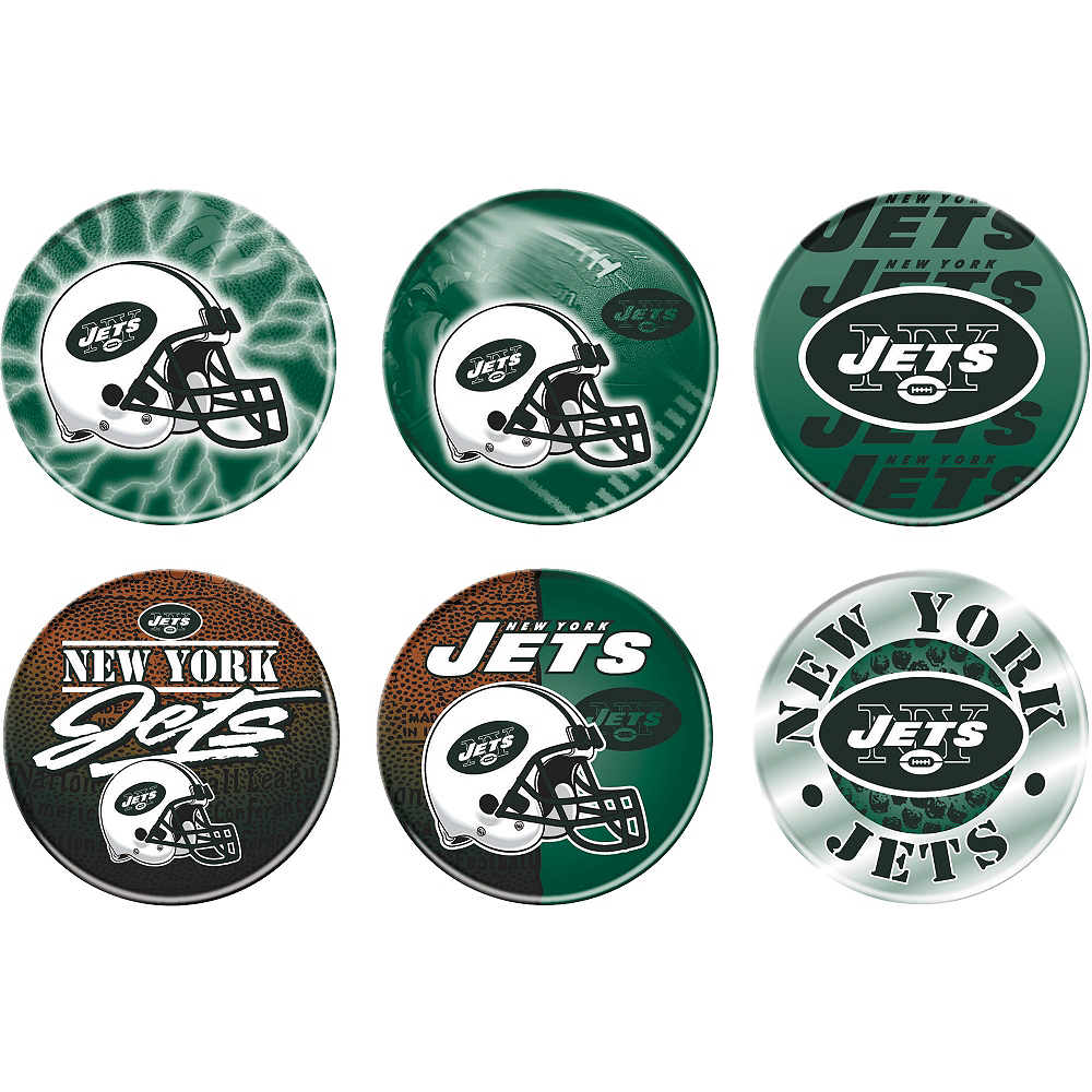 New York Jets Buttons 6ct Image #1