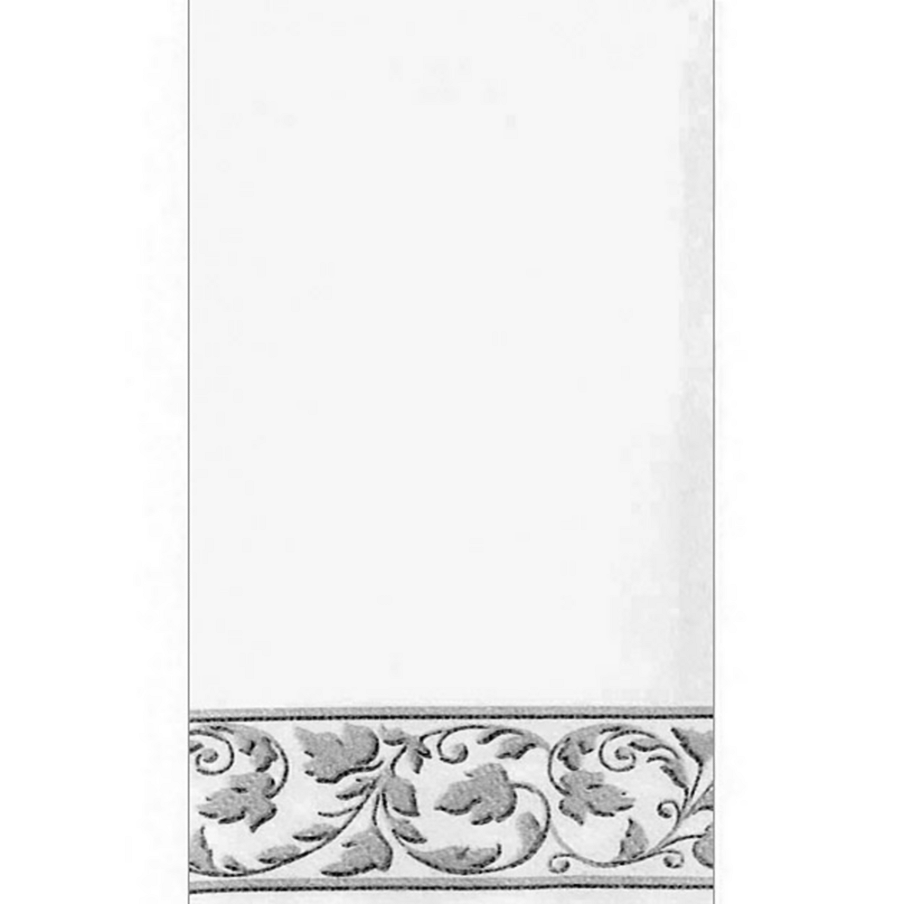 White Silver Scroll Premium Guest Towels 24ct Image #1
