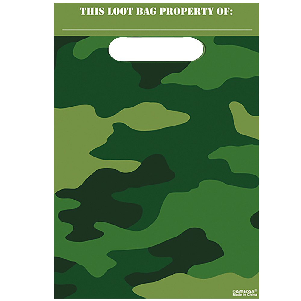 Nav Item for Camouflage Favor Bags 8ct Image #1