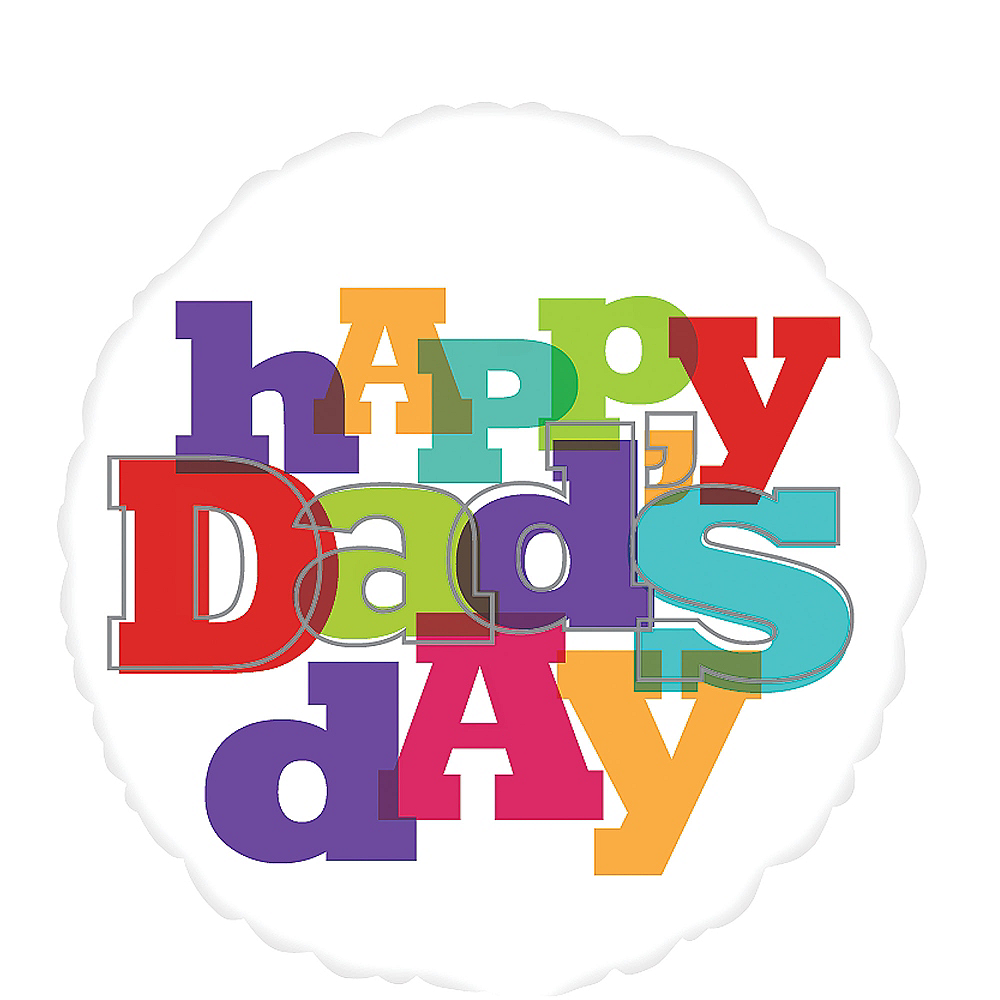 Foil Happy Dad's Day Balloon 17in, 17in Image #1