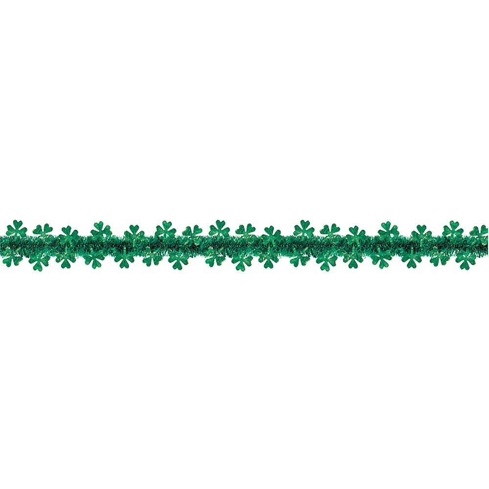 Nav Item for Prismatic Shamrock Tinsel Garland Image #1