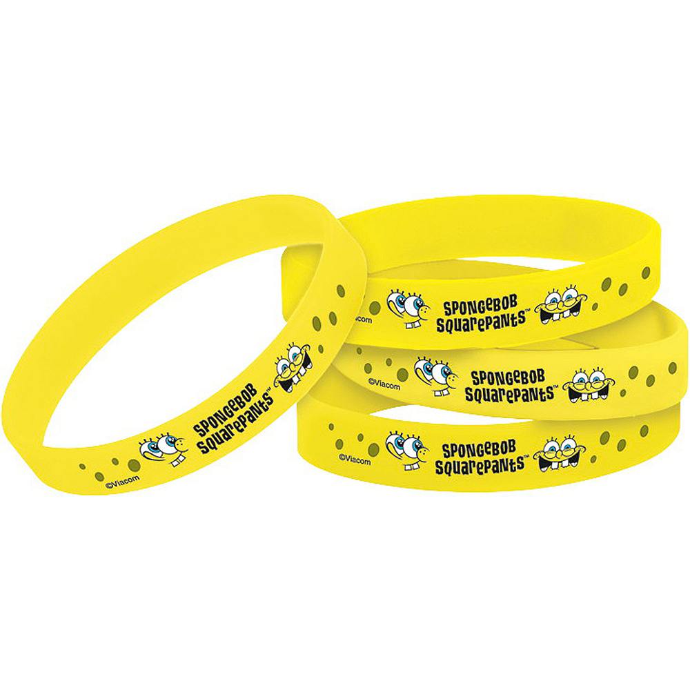 SpongeBob Wristbands 4ct Image #1
