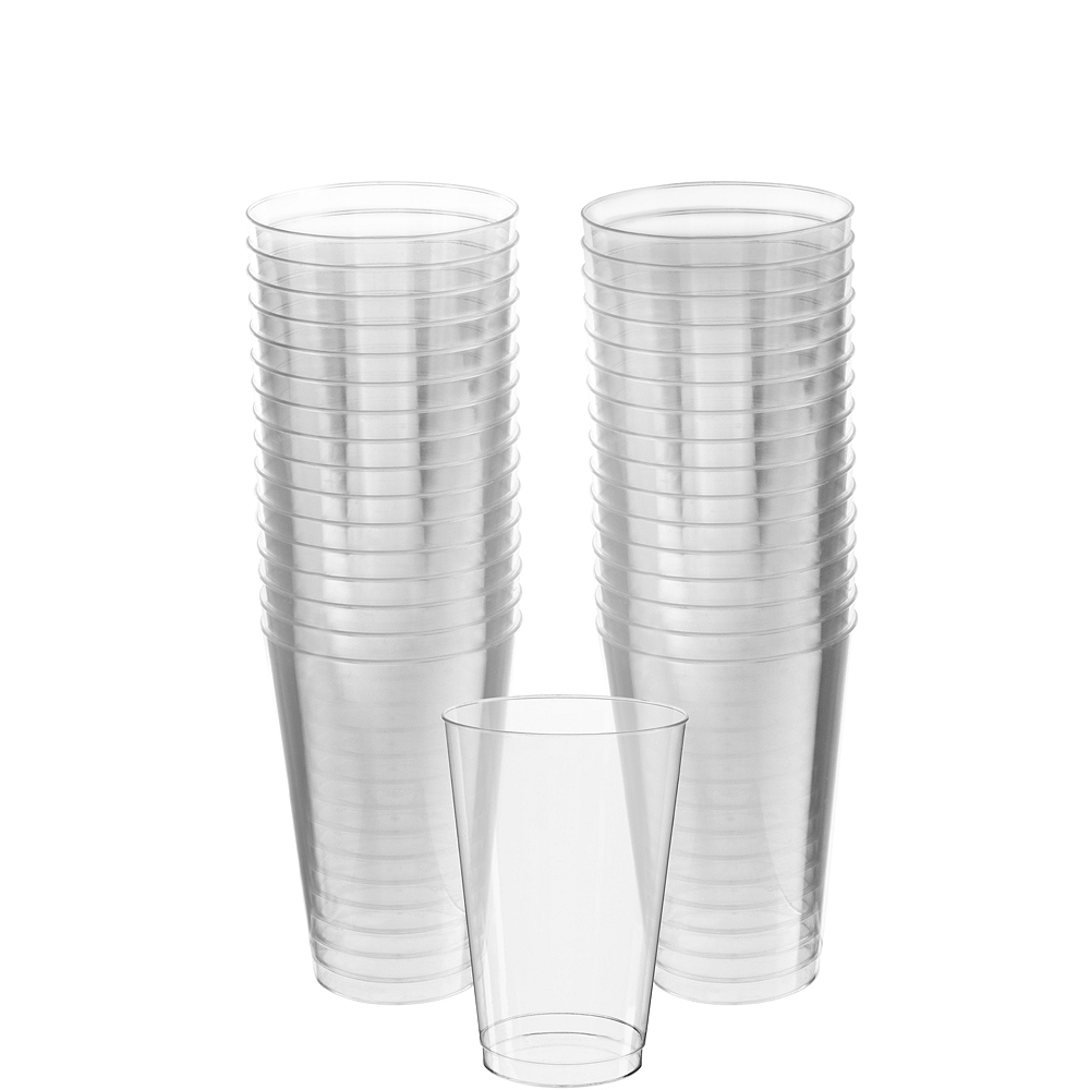 Big Party Pack CLEAR Plastic Tumblers 32ct Image #1