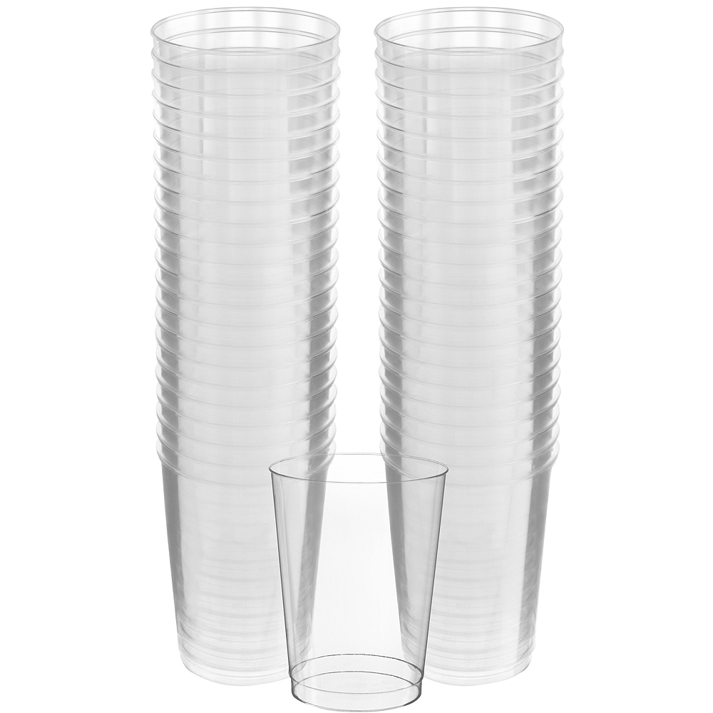 Nav Item for Big Party Pack CLEAR Plastic Cups 72ct Image #1