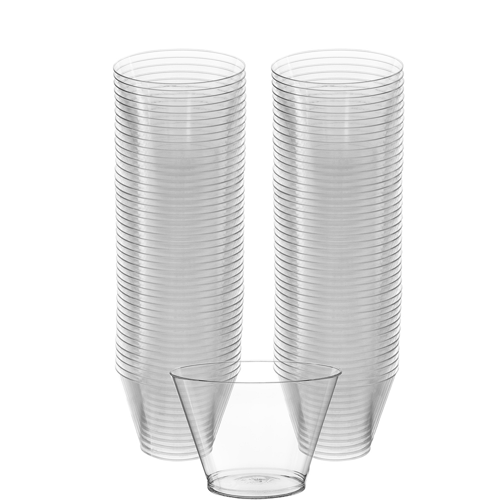 3ee7a5fa8d2 Big Party Pack CLEAR Plastic Cups 88ct 5oz