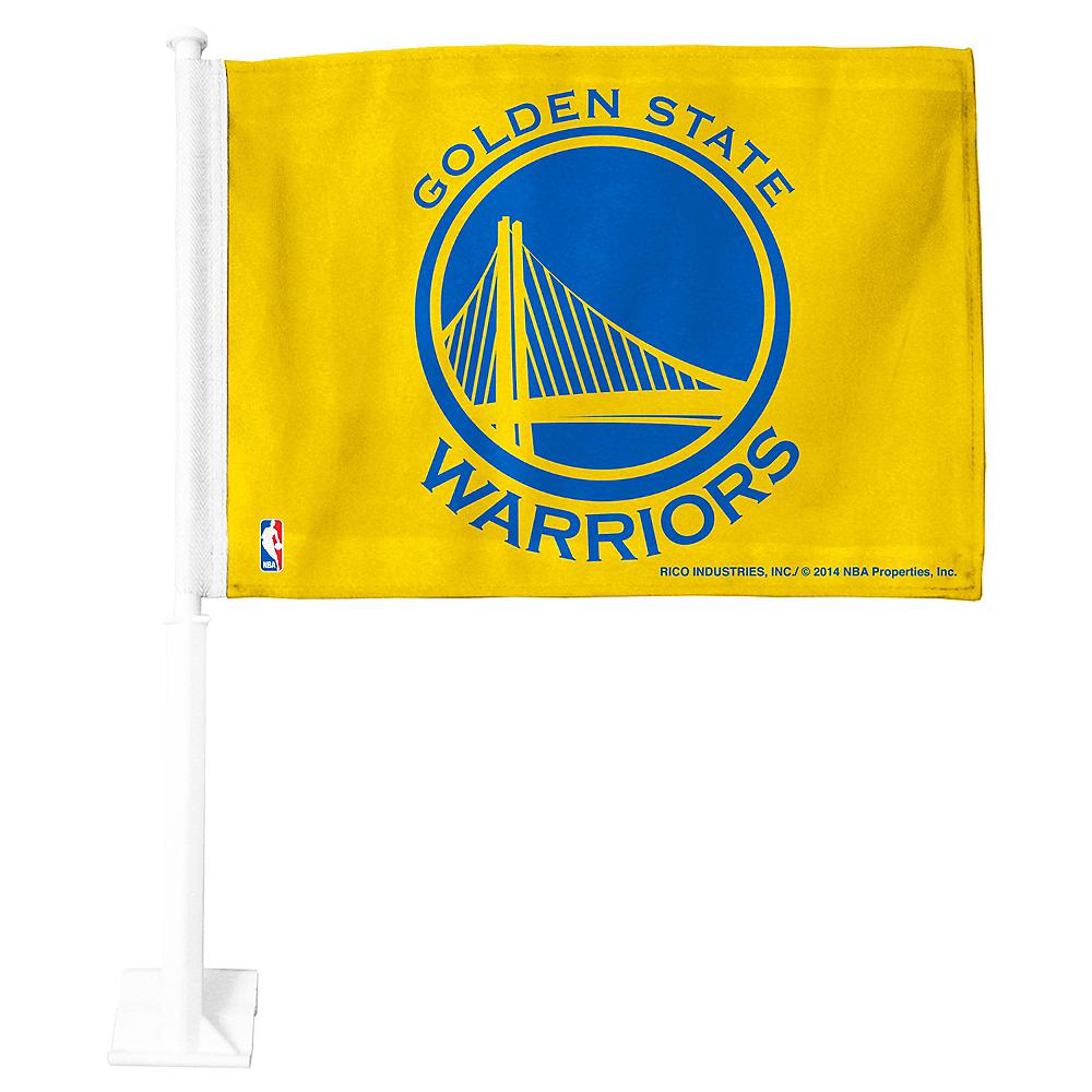 Golden State Warriors Car Flag Image #1