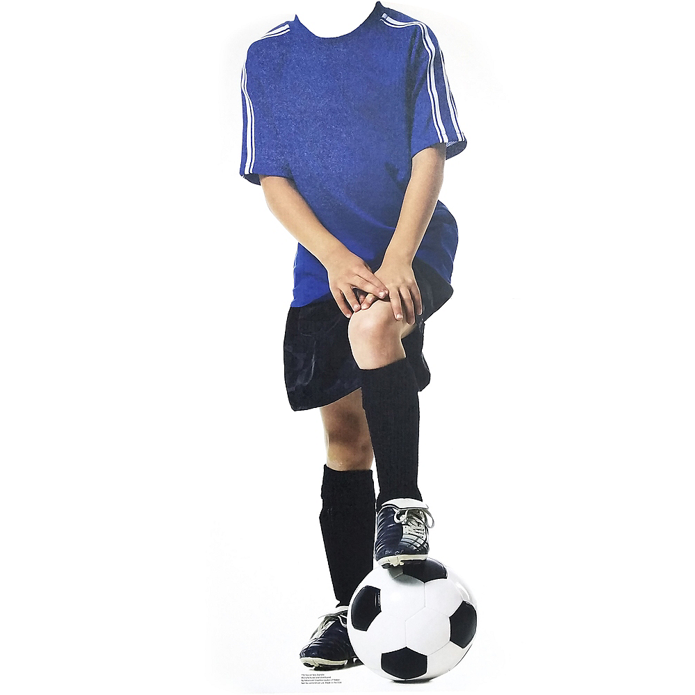 Soccer Kid Life Size Photo Cutout 48in Image #1