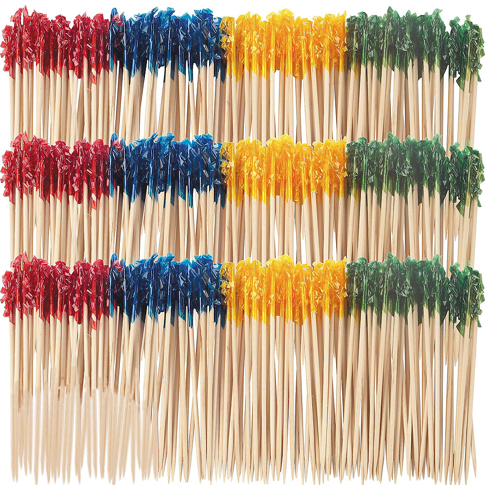 Tall Multicolor Frill Party Picks 800ct Image #1