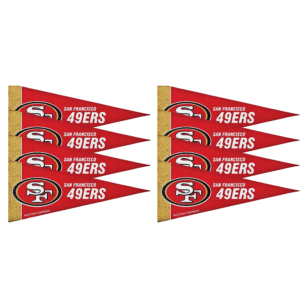 San Francisco 49ers Pennants 8ct Image #1