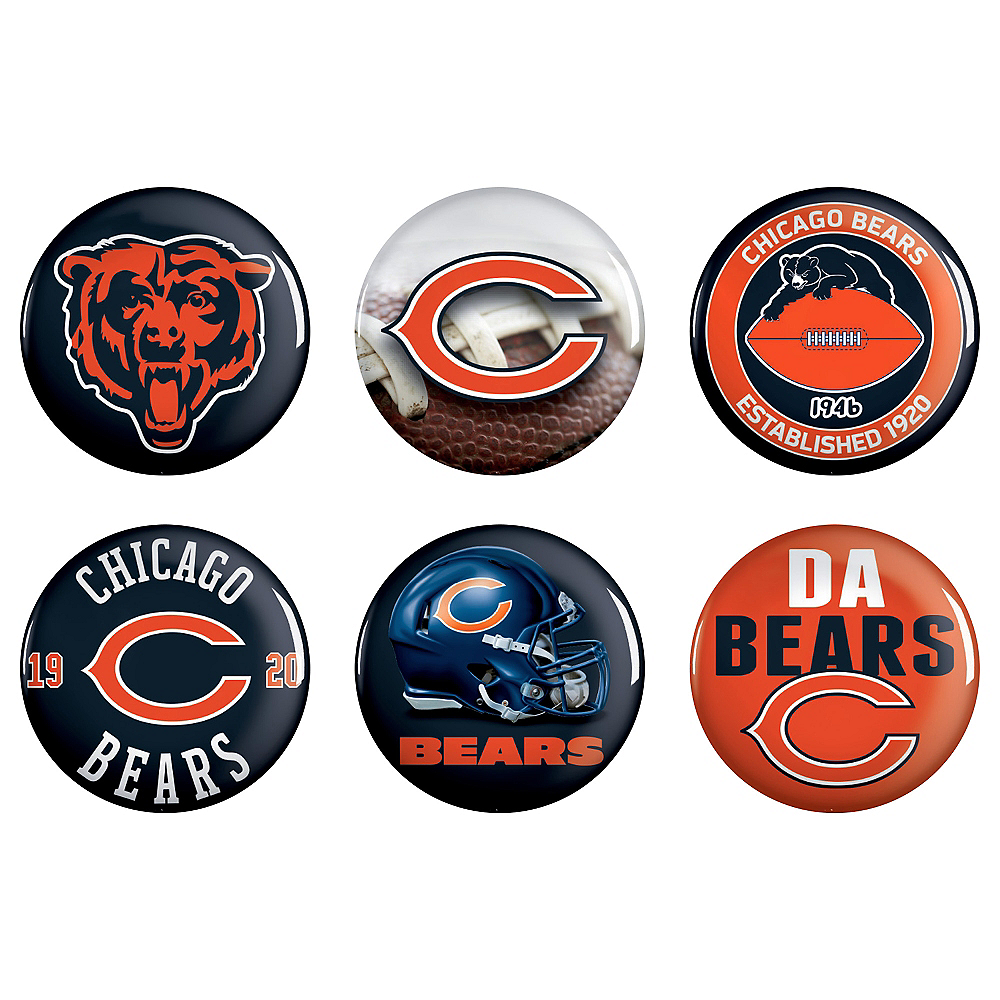 Nav Item for Chicago Bears Buttons 6ct Image #1