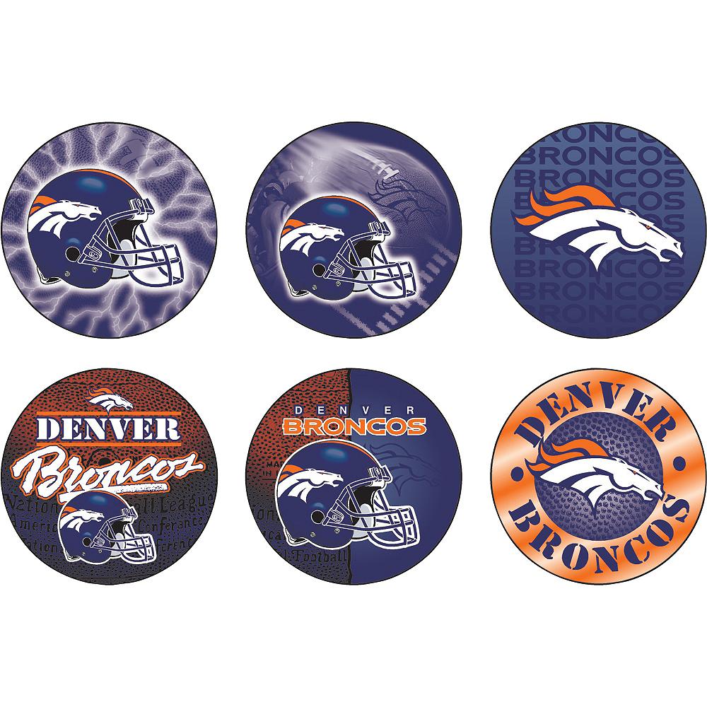 Denver Broncos Buttons 6ct Image #1