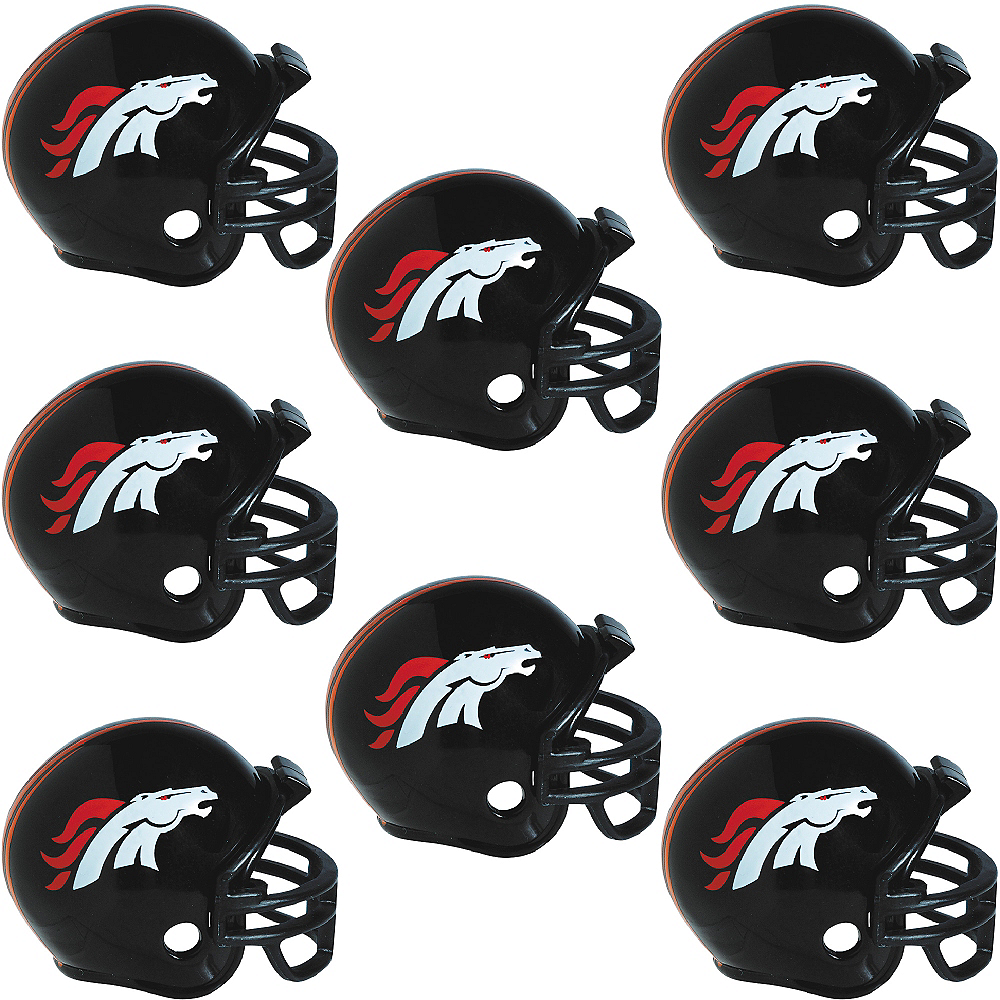 Denver Broncos Helmets 8ct Image #1
